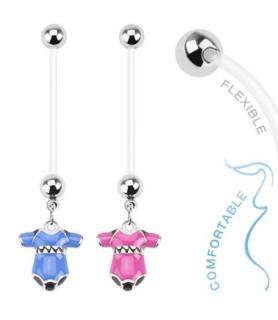 Graviditets navlepiercingsmykke med Babybodystocking smykke