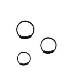 Endeløse næseringe i sort i 7 - 9 - 11mm diameter
