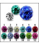 Flotte Krystal kugler i 12 forskellige farver til 1.2mm stav