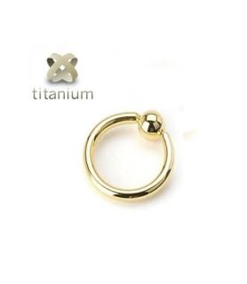 CBR ring G16 belagt med Zirkon-Guld /  mange størrelser
