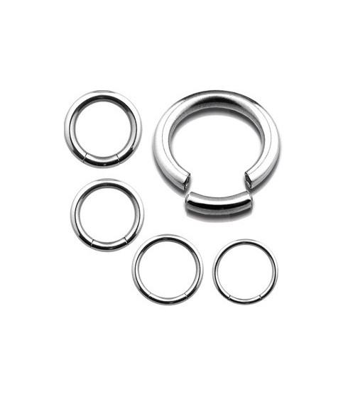 Segmentring piercing kirurgisk stål G14