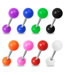 Tunge piercingsmykker i mange flotte farver