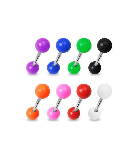 Tungepiercingsmykker i mange flotte farver