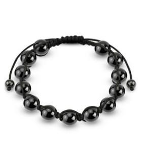 Hematite black pearl shamballa armbånd
