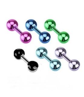 Tragus-helix piercingsmykke i titanium - Kirurgisk stål 1.2mm