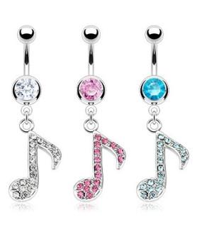 Smukke musikalske navlepiercinger