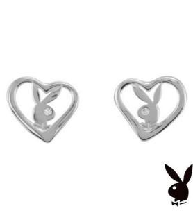 Original charmerende Playboy ørestickers i sølv