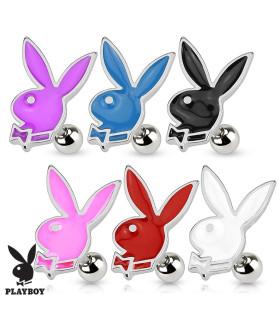 Playboy bunny traguspiercing - 6 forskellige farver