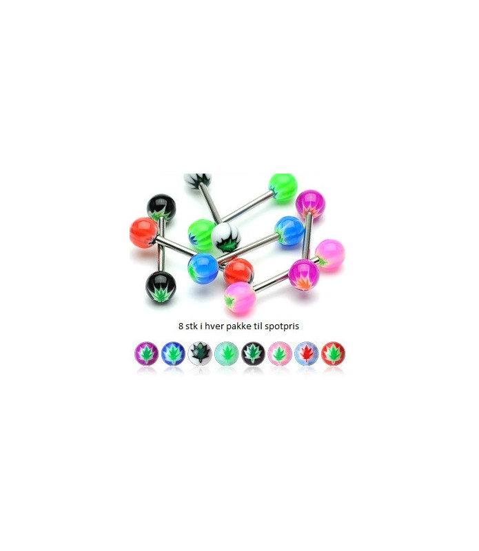 Tungepiercing Bonuspakke med indstøbt Hamp logo