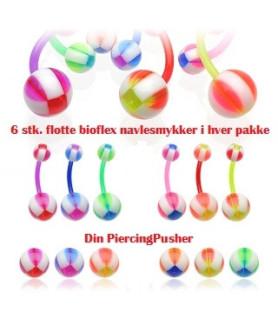 Fancy Bioflex navlesmykker til Spotpris