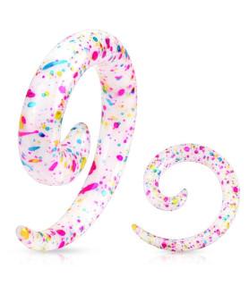Dekorativ Splatter painted Akryl spiral Taper