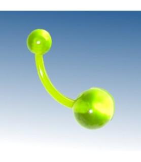 Flexibel og Komfortabel NEONGRØN bioflex navle Piercing