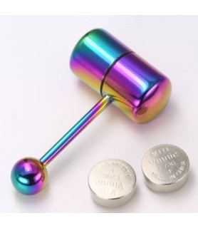 Tungepiercing med vibrator