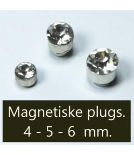 Fake piercing, magnetisk med krystal 3 forskellige str.