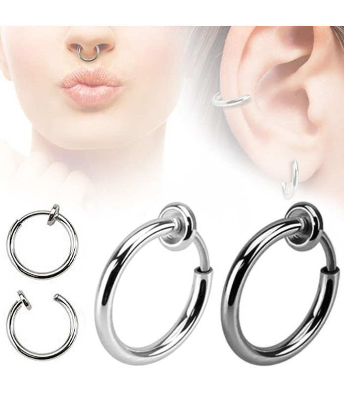 Fake piercing ring  2 farver i enten 10 el. 12mm.