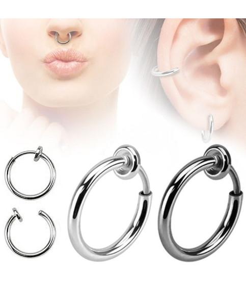 Fake piercing ring  2 farver i enten 8 - 10 el. 11mm.