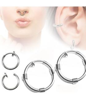 Stor og flot fake piercing ring 14 mm. universal.