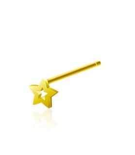 Stjerne til næsepiercingen - Guldbelagt sølvsmykke