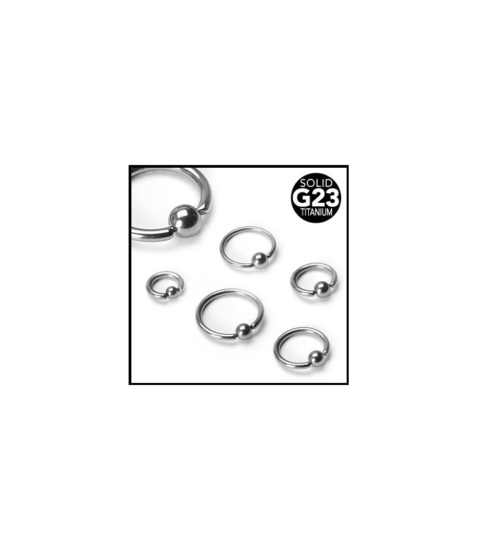 Titaniumpiercinger - Closure ball ring (Cbr. piercing)