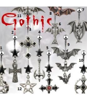 Rigtigt flot Gotisk designede navlepiercingsmykker