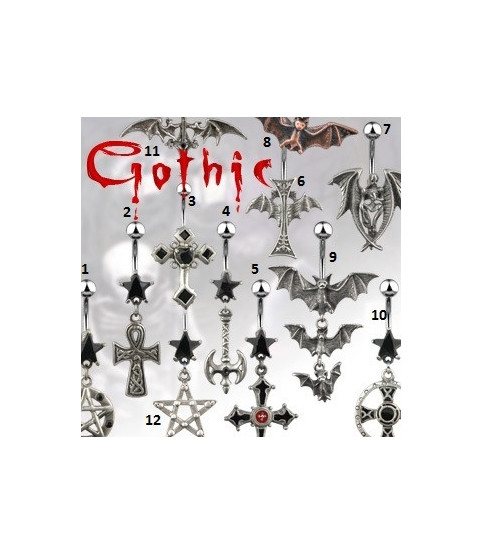 -Rigtigt flot Gotisk designede navlepiercingsmykker