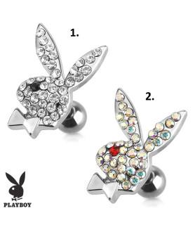 Original Playboy Tragus-smykke fyldt med Zirconia