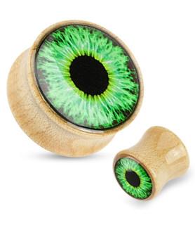 Fed Eye ball plug i Maple wood - flot glat finish