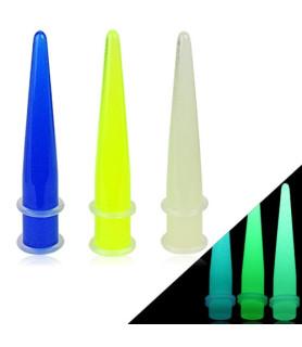 Selvlysende ørestretcher i 3 farver