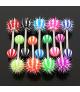 Tungepiercinger med koosh tickler mange farver