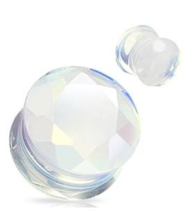 Stretch plug i ren opalite krystal