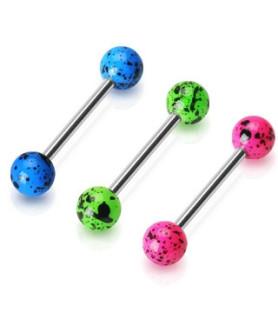 Splatter Painted Balls på Fluorescerende akrylkugler