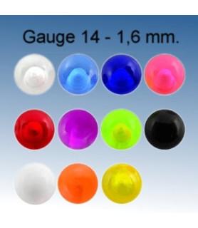 5-6 mm. Akryl kugler til piercing G14