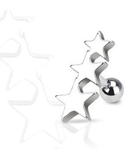 Tre stjerner til din tragus piercing