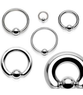 Ekstrem piercing Closure ball ring G6 - 4mm.