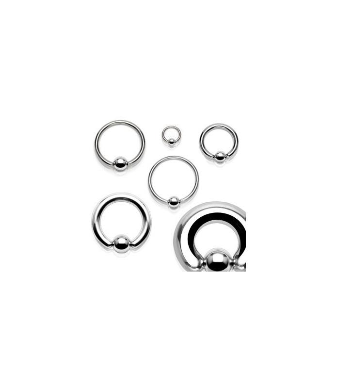 Ekstrem piercing Closure ball ring G7