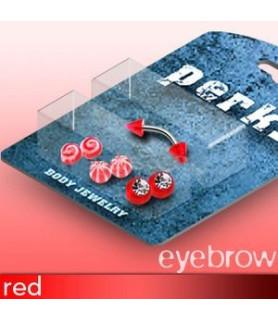 Bonuspakke til øjenbrynspiercing med 4 sæt farverige kugler