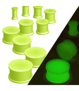 -Nice Selvlysende Neon grøn Plug til øret