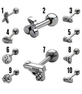 Frække Tungepiercingsmykker med logos og figurer