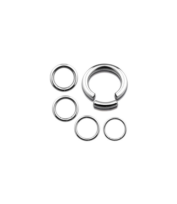 Segmentring piercing kirurgisk stål G16