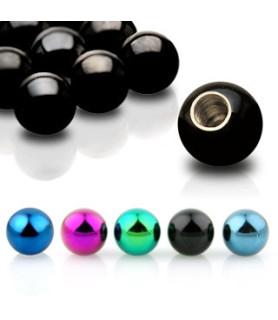 Titaniumbelagt kugle til piercingsmykker G16 - 1,2 mm.