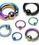 Captive Bead Ringe - Kuglering - mange str. og farver