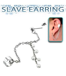Fake Helix Piercingsmykke med flotte perler og kæde