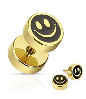 Guldbelagt Fake plug med Smiley