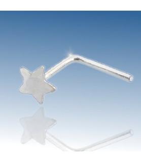 Næsepiercing i ægte massivt sølv, sød lille sølvstjerne.