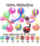 Bølgestribet Navlepiercing serie i bioflex - 100% nikkelfri
