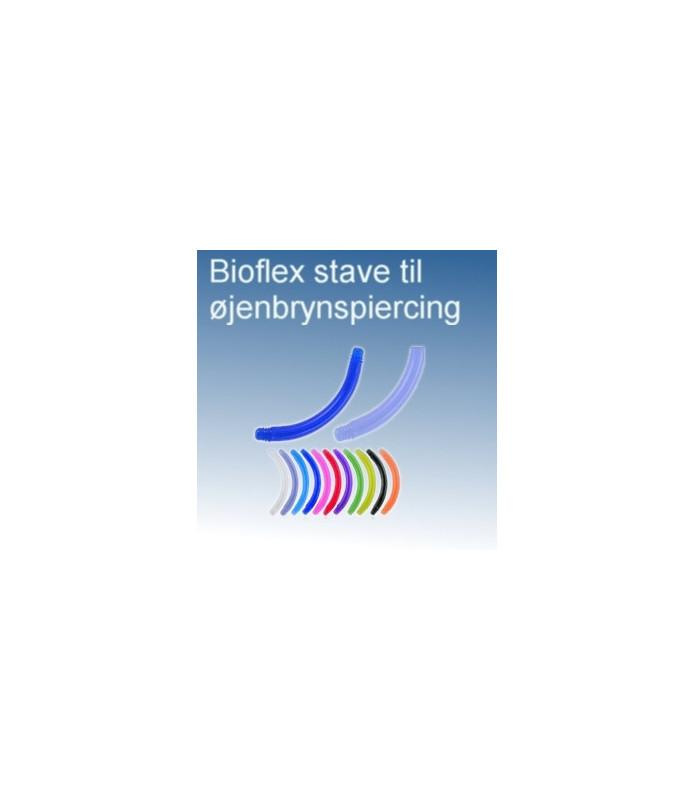 Bioflex buede stave til øjenbrynspiercing