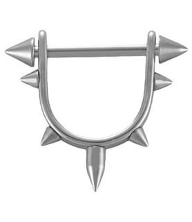 Brystpiercingstav med  Cones i halv cirkel