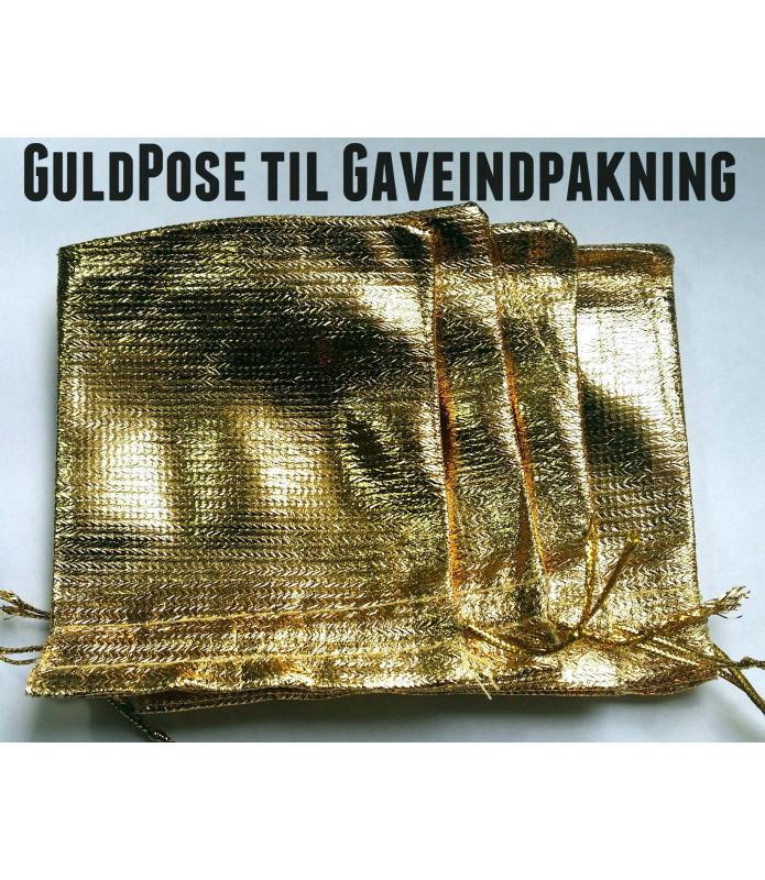 Guldpose til indpakning af smykker