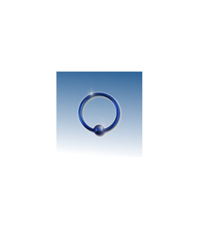 Closure ring blå anodiseret  10 mm.