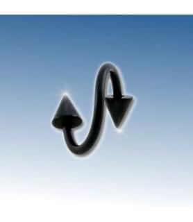 Flot blackline twister med cones 8 mm.